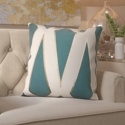 Cliburn Cotton Throw Pillow Color: Teal