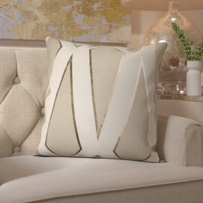 Cliburn Cotton Throw Pillow Color: Gray
