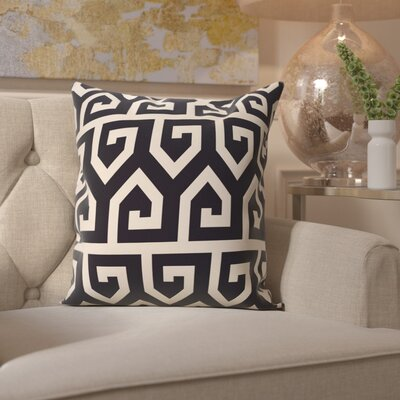 Benedito Geometric Print Outdoor Throw Pillow Size: 18 H x 18 W, Color: Navy Blue