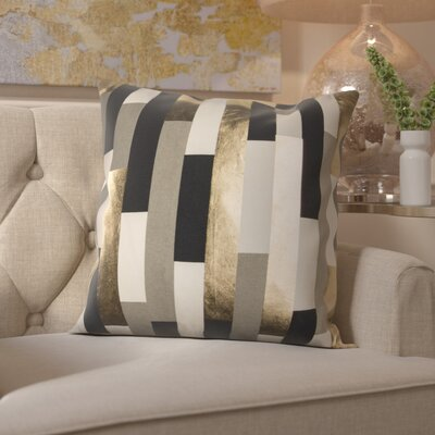 Everett 100% Cotton Throw Pillow Color: Gray