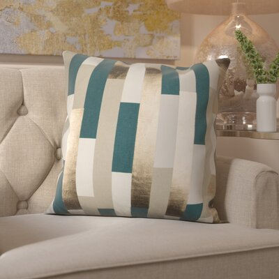 Everett 100% Cotton Throw Pillow Color: Teal