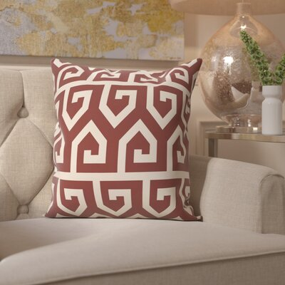 Benedito Geometric Print Outdoor Throw Pillow Size: 20 H x 20 W, Color: Rust