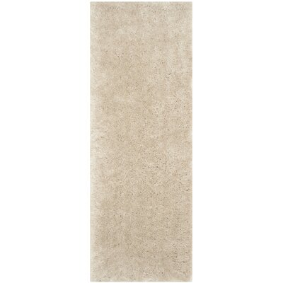 Dax Shag Hand-Tufted Beige Area Rug Rug Size: Runner 23 x 6