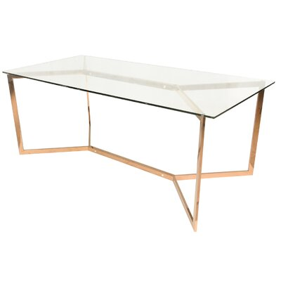 Felicia Trestle Dining Table Base Finish: Rose Gold