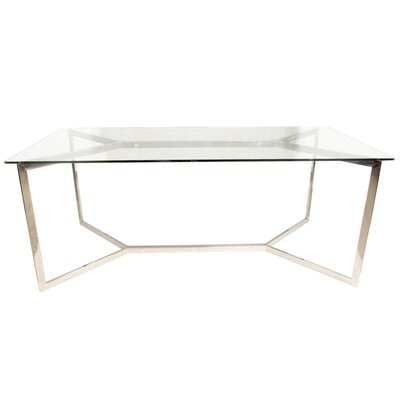 Felicia Trestle Dining Table Base Finish: Stainless Steel