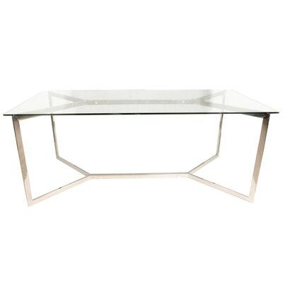Riffle Trestle Dining Table Base Finish: Stainless Steel