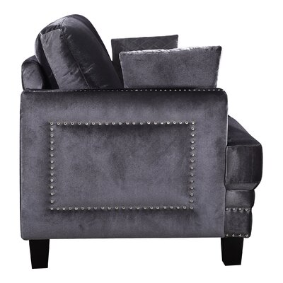 Dia Nailhead Armchair Fabric: Gray