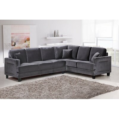 Dia Sectional Upholstery: Gray