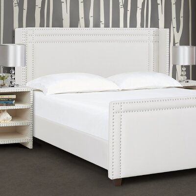 Cerium Wingback Upholstered Panel Bed Size: King