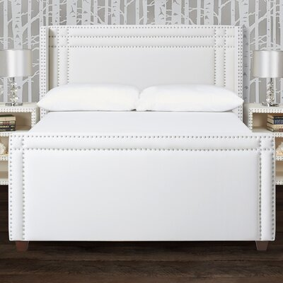 Kelvin Wingback Upholstered Panel Bed Size: Queen