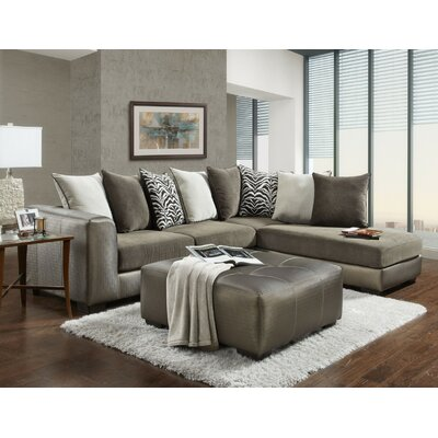 Kinneret Back Sectional with Ottoman