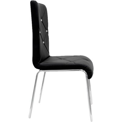 Emerystone Side Chair Upholstery: Black