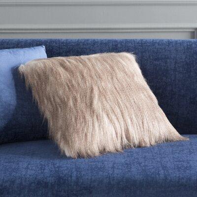 Gillian Faux Fur Throw Pillow Color: Cinnamon