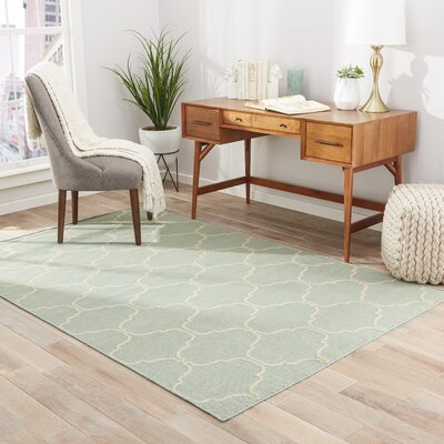 Bellegarde Hand-Woven Green Area Rug Rug Size: 2 x 3