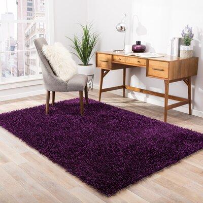 Woodside Tulip Purple Shag Area Rug Rug Size: 5 x 76