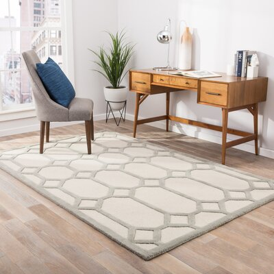 Caitlynne Ivory & Gray Area Rug Rug Size: 2 x 3