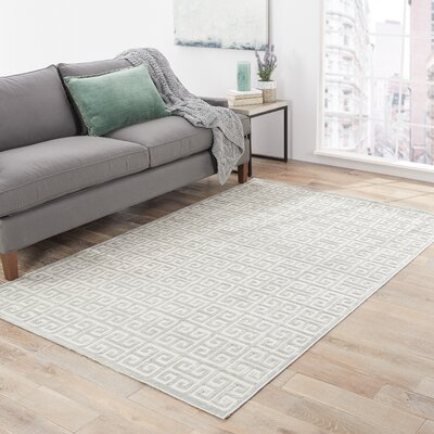 Barron Ivory Area Rug Rug Size: Rectangle 76 x 96