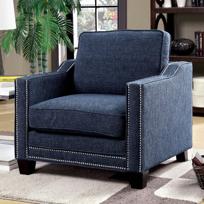 Witt Chenille Arm chair Upholstery: Blue