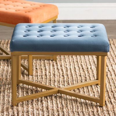 Hansen Rectangular Ottoman Upholstery Color: Midnight