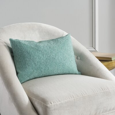 Mariela Lumbar Pillow Color: Aqua Blue