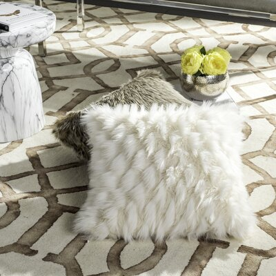 Skelmersdale Luxe Feather Throw Pillow
