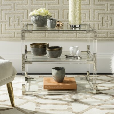 Aresford Acrylic End Table Finish: Silver