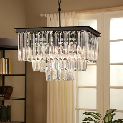 Overton 3-Tier 13-Light Crystal Chandelier
