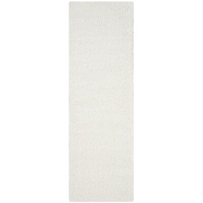 Bilroy White Area Rug Rug Size: 9 x 12
