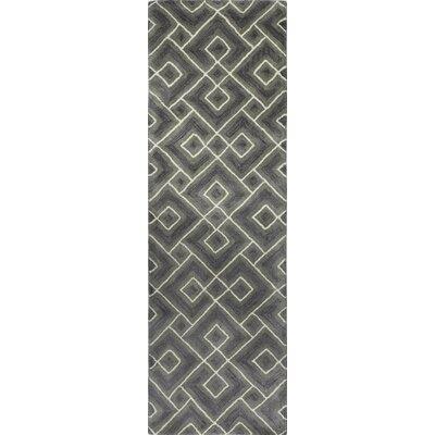 Drongen Grey Area Rug Rug Size: Runner 26 x 8
