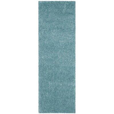 Zirconia Turquoise Area Rug Rug Size: Runner 23 x 7