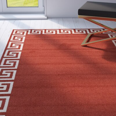 Padstow Terracotta Area Rug Rug Size: 8 x 8