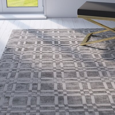 Hugh Town Graphite Rug Rug Size: 56 x 86