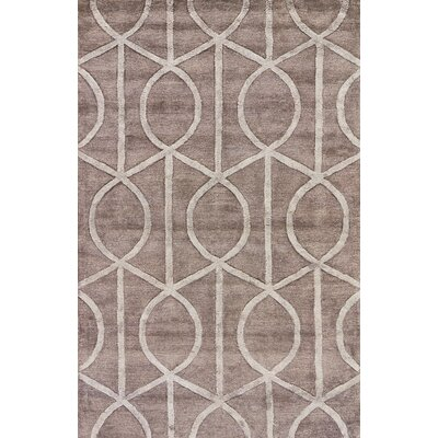 Blondell Unique Hand-Tufted Gray Area Rug Rug Size: 96 x 136