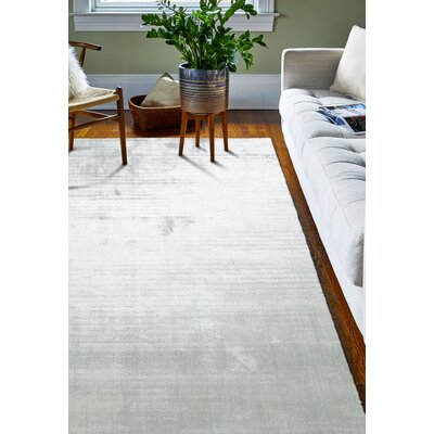 Downs Hand Woven Silk Seafoam Area Rug Rug Size: 56 x 86