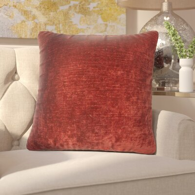 Capucina Solid Square Throw Pillow Color: Red