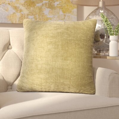 Capucina Solid Square Throw Pillow Color: Olive