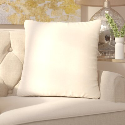 Capucina Solid Square Throw Pillow Color: Ivory / White