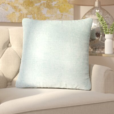 Capucina Solid Square Throw Pillow Color: Grey