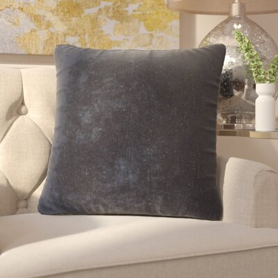 Capucina Solid Square Throw Pillow Color: Blue Night