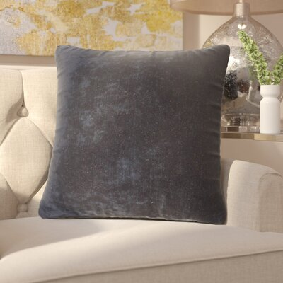Capucina Solid Throw Pillow Color: Blue Night