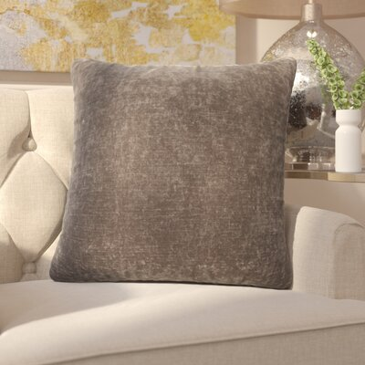 Capucina Solid Square Throw Pillow Color: Charcoal Grey