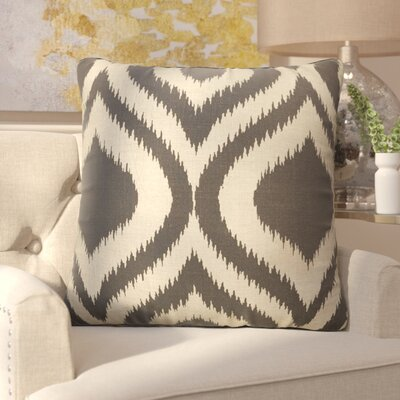 Brightwood Modern Tribal Pattern Linen Throw Pillow Color: Taupe / Grey