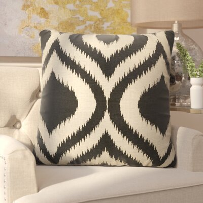 Brightwood Modern Tribal Pattern Linen Throw Pillow Color: Taupe / Black