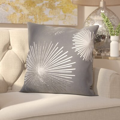 Beadling Cotton Throw Pillow Color: Silver