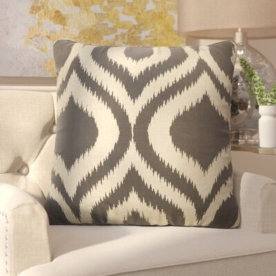Brightwood Removable Tribal Pattern Square Linen Throw Pillow Color: Taupe / Grey