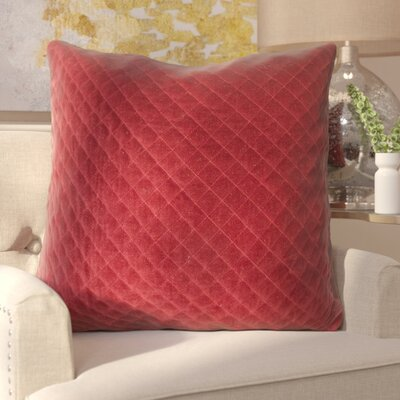 Ileana Throw Pillow Color: Red