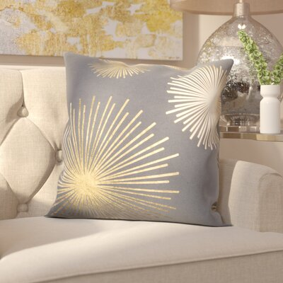 Beadling Cotton Throw Pillow Color: Gold