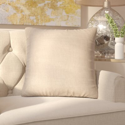Chantae 100% Cotton Throw Pillow Color: Natural