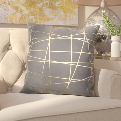 Chesmore Cotton Throw Pillow Color: Gold