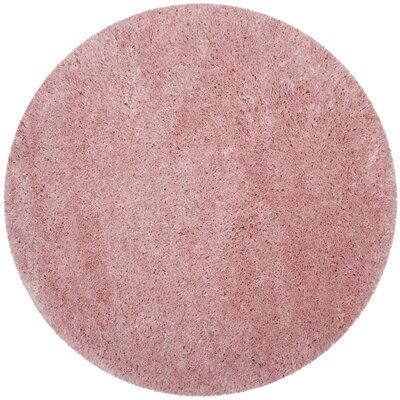Hermina Light Pink Area Rug Rug Size: Round 67 x 67